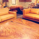 欅材の大木のテーブル